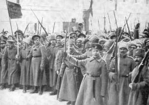 Bolshevik-soldiers-in-Petrograd